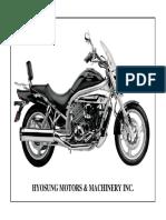 Aquila Hyosung 650 Manual de Despiece