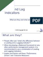 Lead and Lag Indicators