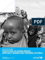 Trafficking in Persons UNICEF Trafficking Paper