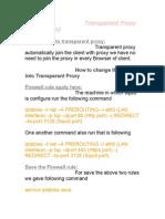 TranspTransparent Proxy Server Squidarent Proxy Server Squid