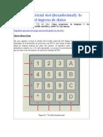 Teclado Matricial 4x4 (Hexadecimal) Lo Mejor Para El Ingreso de Datos