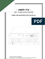 BSI 1000-Watt FM RF Amplifier Manual ARF1000 WW