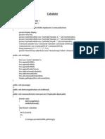 Calculator Program in J2me