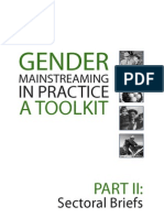 Gender mainstreaming in practice part II