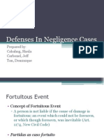Defenses in Negligence Cases(1)