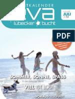 EVA - Eventkalender der Lübecker Bucht - Ausgabe Juli 2013