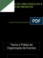 Teoria e Prática da Organização de Eventos modificação
