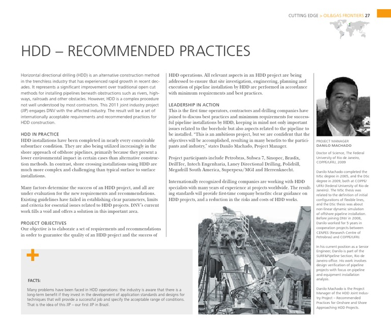 HDD - Recommended Practices | Pipeline Transport | Oil Well