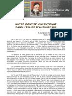 [0701-1 FRA] Notre identité vincentienne dans l'Église d'aujourd'hui