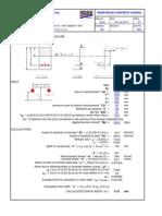Crack Width calculation sheet