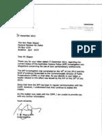 AFP Negus to Slipper 8 December 2012