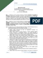 Metodologie Admitere Licenta Psihologie