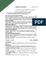 Me2302 Dynamics of Machinery l t p c 3 1 0 4