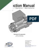 Kato... Generator Instruction Manual