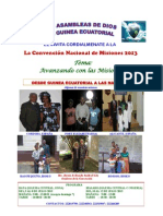 CONVENCION MISIONERA (The Poster from the Missions Convention of the Assemblies of God of Equatorial Guinea)