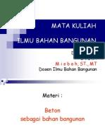 MATA KULIAH IBB ( Beton sbg bhn bangunan ).ppt