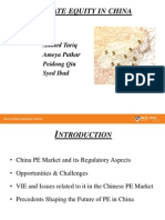 China Capital Markets - PE in China