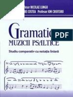 Gramatica muzicii psaltice - studiu comparativ cu notatia liniara