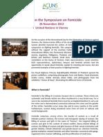 Report Symposium Femicide
