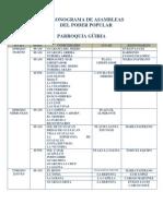 Cronograma de Asambleas Del Poder Popular