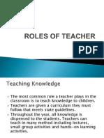Roles of Teacher