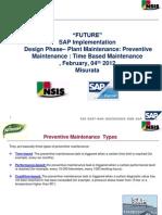 ALNASEEM - SAP Implementation - PM Preventive Maintenance BP Week 31.01.2013 V1