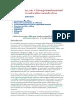 Política educativa para el liderazgo transformacional de los directores de instituciones educativas