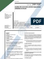 NBR 12646 - 1992 - Paredes de Concreto Celular Espumoso Moldadas No Local