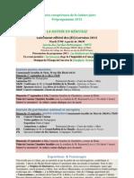 Préprogramme au 1er juillet
