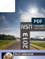 NSIT Solar Car Brochure 2013-14