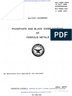 Military Handbook for Manganese Phosphate and Black Oxide