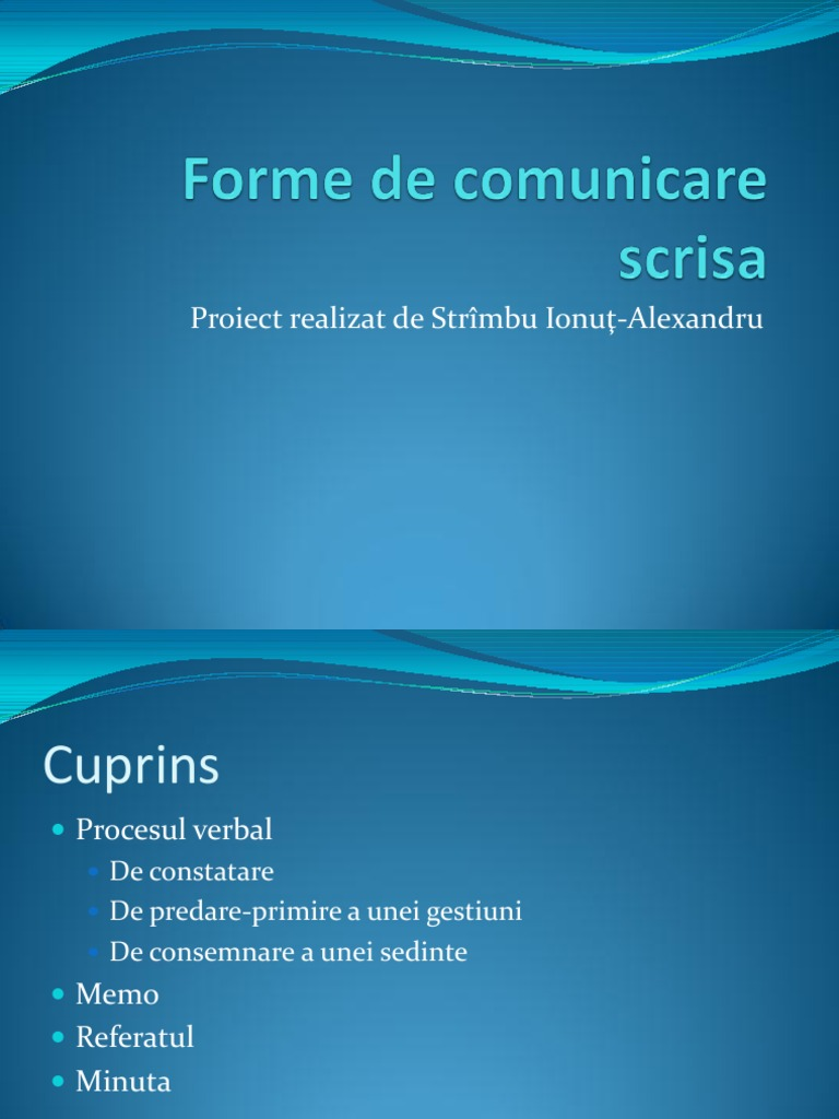 forme de comunicare