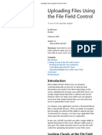 Uploading Files Using the File Field Control
