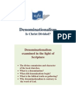 Denominationalism - Is Christ Divided?