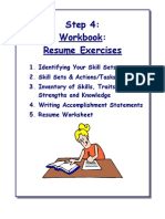 Work Book Resume Exercises