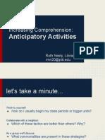 anticipatory activities