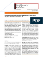 Radiation Dose Reduction With Application of Non-linear Adaptive Filters for Abdominal CT