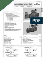 Válvula direcional proporcional com regulagem