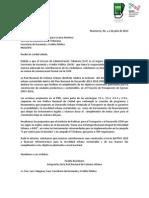 Carta 'Queremos lana para la ciudad humana' entregada al SAT Monterrey