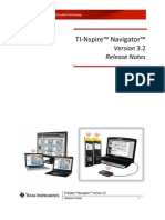 TI-Nspire Navigator 3.2 Release Notes En