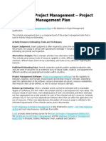 Diploma in Project Management - Project Management Plan
