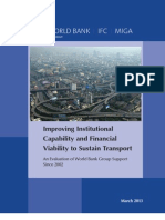 Improving Institutional Capability and Financial Viability to Sustain Transport