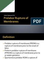 Prelabor Rupture of Membranes 2013