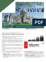 2013 Legislative Session Review