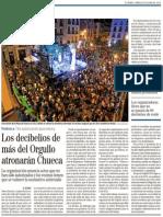 """""""El área de Medio Ambiente del ayuntamiento de Madrid no autoriza los conciertos en la plaza de Chueca en el Orgullo Gay"""""""