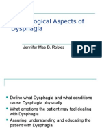 Psychological Aspects of Dysphagia Presentation