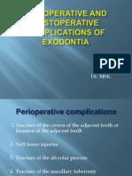 Complication of Exodontia