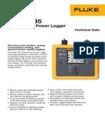 FLUKE 1735 Power Logger Technical Data