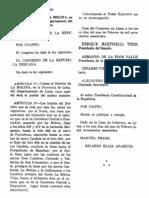 Ley 13981 La Molina