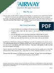 Fairway Mortgage Documents